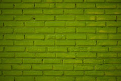 Pattern of Green brick wall background and textured, Grooved con Royalty Free Stock Photo