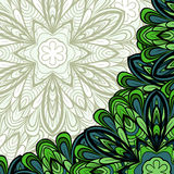 Pattern with green corner Stock Images