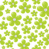Pattern with green flowers Stock Photos