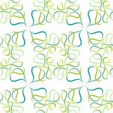 Pattern of green leaves or hearts on white background Stock Photography