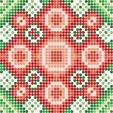 Pattern green red Stock Image