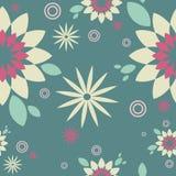 Pattern green. Seamless pattern decorative green Flower Stock Image