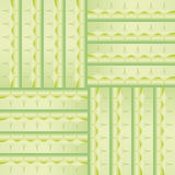 Pattern with green squares and decorations interlocking Stock Photos