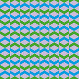Pattern with green violet and blue geometric shapes Stock Photo