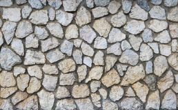 Pattern grey color of stone wall Royalty Free Stock Photos