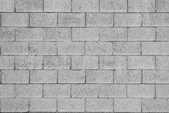 Pattern of grey wall. Made of concrete bricks royalty free stock photos
