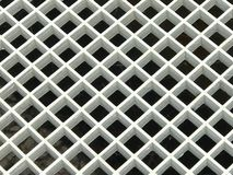Pattern of white pvc plastic grid drain cover Royalty Free Stock Photos