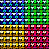 The pattern of a grid of hearts. Stock Photography