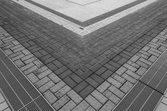Pattern on ground. Abstract modern stairs to building Royalty Free Stock Photo