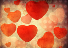 Pattern with grunge hearts Royalty Free Stock Images