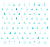 Pattern with grunge watercolor aquarelle hand draw. Triangles royalty free stock images