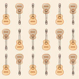 Pattern guitars Stock Photos
