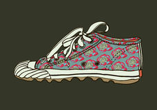 Pattern gym shoes Royalty Free Stock Photos