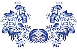 Pattern gzhel Royalty Free Stock Photo