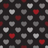 Pattern from halftone hearts Royalty Free Stock Photos