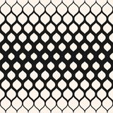 Pattern with halftone transition effect, vertical gradient. Design for decor, prints, covers. Vector seamless pattern. Monochrome background with halftone Royalty Free Stock Photos