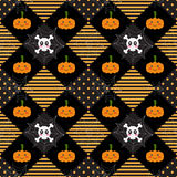 Pattern Halloween Geometry. In orange and black Stock Illustration
