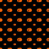 Pattern with Halloween pumpkin. (seamless) Stock Images