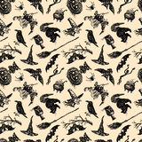 Pattern of Halloween. Vector pattern of a theme of Halloween Royalty Free Stock Images