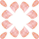 Pattern of ham slices Stock Photos