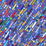 Pattern with hand drawn colourful stripes Royalty Free Stock Photos