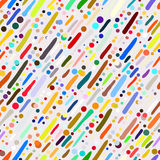 Pattern with hand drawn colourful stripes Stock Photography