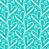 Pattern with hand drawn hearts Royalty Free Stock Photography
