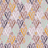Pattern with hand drawn hearts Royalty Free Stock Photos