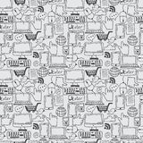 Pattern hand drawn sketch icons for business,internet a. Seamless pattern hand drawn sketch icons for business,internet and office. Vector Stock Image