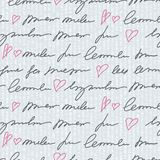 Pattern with hand writing elements Stock Photography