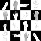 Pattern of Hands Royalty Free Stock Photography