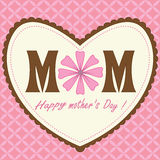 Pattern Happy Mothers Day Pink Heart Design Stock Photos