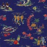 Pattern of Hawaiian shirt, Royalty Free Stock Photography