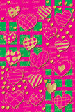 Pattern Heart background Stock Images