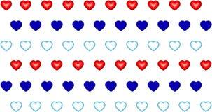 Pattern heart blue red aqua symbol of love valentine Stock Photos