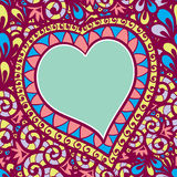 Pattern  with heart Royalty Free Stock Photo