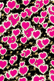 Pattern Heart love valentine Stock Image