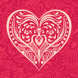 Pattern  with heart Royalty Free Stock Photography