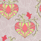 Pattern with heart Stock Image
