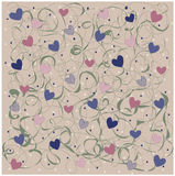 Pattern with heart Royalty Free Stock Photos