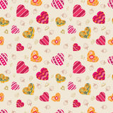Pattern heart seamless Stock Image
