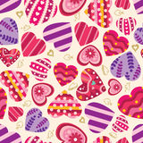 Pattern heart seamless Stock Photos