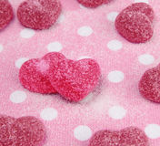 Pattern of heart-shaped marmelade Stock Images