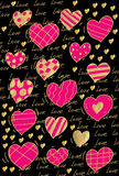 Pattern Heart Valentine Love Stock Photo