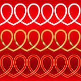 Pattern from hearts. Wattled pattern from hearts. The drawing stock illustration