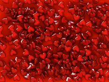 Pattern from hearts. 3d rendering pattern of the hearts stock illustration