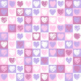 Pattern hearts 2 Stock Image