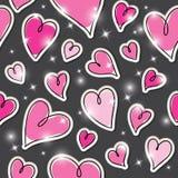 Pattern of hearts Stock Photo