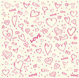 Pattern_hearts Obrazy Royalty Free