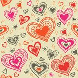 Pattern with hearts_5 Royalty Free Stock Photos